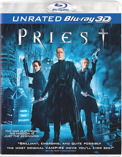 Priest - blu-ray ex noleggio distribuito da Sony Pictures Home Entertainment